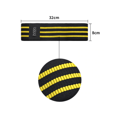 Hypest Fit Yellow Black Hip Circle Resistance Band