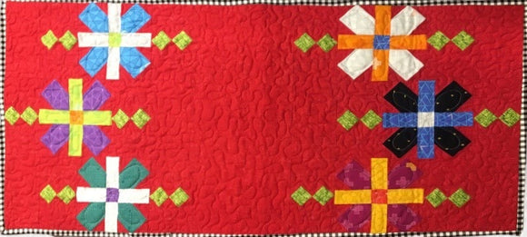 Rock Candy Table Topper Kit - pattern design by Heather Peterson of Anka's Treasures