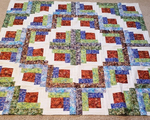 "Loggie Quilt Kit Finished Size 60"" x 60"""