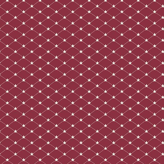 Andover Allegiance Tufted Star Cranberry A-9606-R1