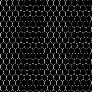 Andover Fabrics The Coop Chicken Wire Black A-9635-K