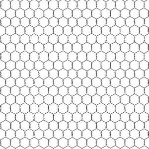 Andover Fabrics  The Coop Chicken Wire White A-9635-L