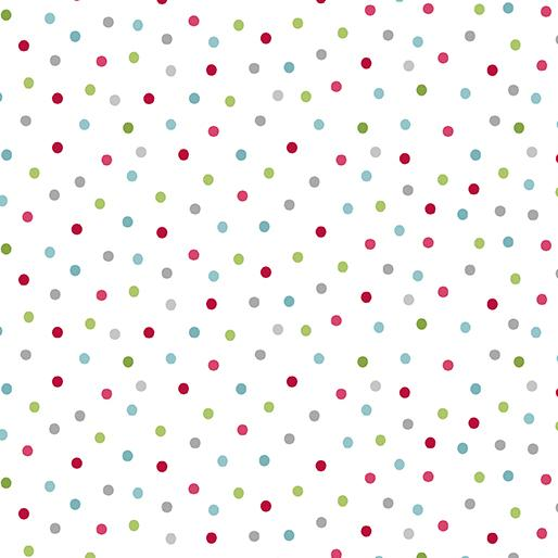 Contempo Fabrics Joy Festive Dot White/Multi 0691009B
