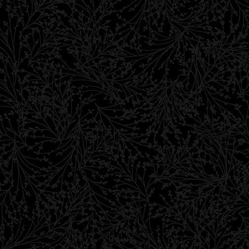 Benartex Fabrics Night & Day 2  Tossed Sprigs Black 1040712