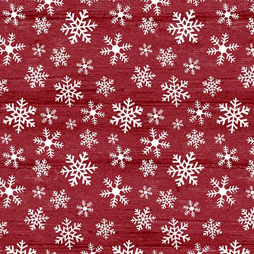 Benartex Fabrics Rustic Village Christmas Wood Flake Grenadine 0688419B