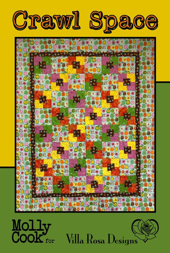 Crawl Space Quilt Pattern from Villa Rosa Designs