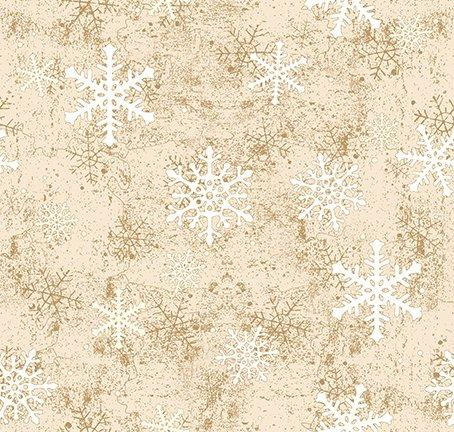 $12.99/YARD * PREORDER* Clothworks Quilt Minnesota 2021 Snowflakes Light Caramel Y3321-64
