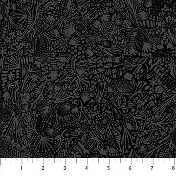 Figo  Fabrics After The Rain Plants Black  90165-99