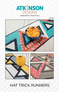 Hat Trick  Table Runner Quilt Pattern by Atkinson Designs