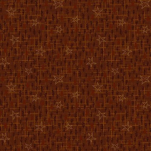 Hnery Glass & Co Folk Art Flannel 3 Tree Texture Russet F2380-35