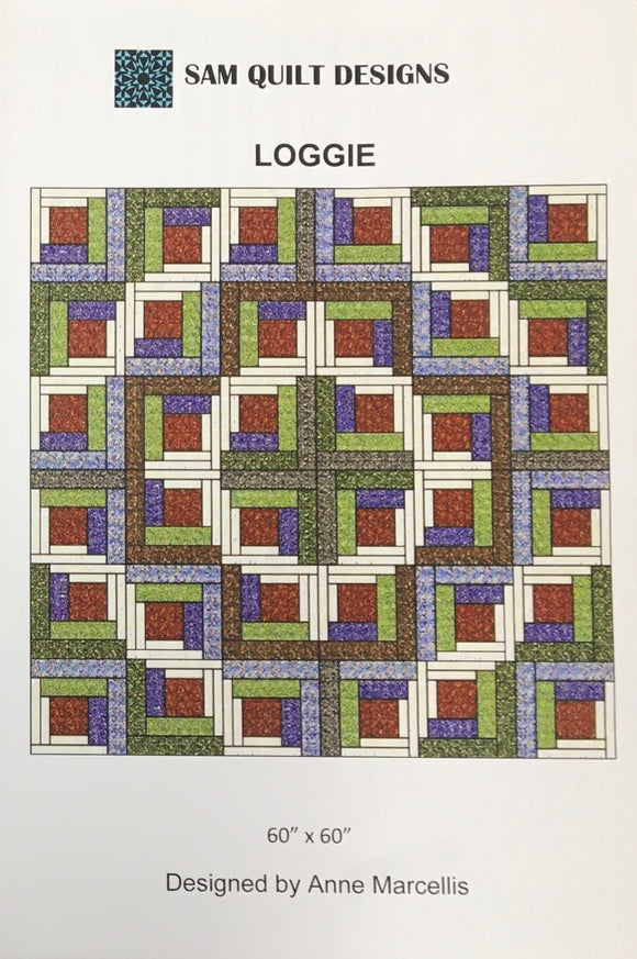 Loggie Quilt Pattern by Anne Marcellis of Sam Quilt Designs