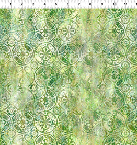 In The Beginning Fabrics FloragraphixV Medallions Green 9FGE-1