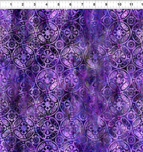 In The Beginning Fabrics FloragraphixV Medallions Purple 9FGE-4