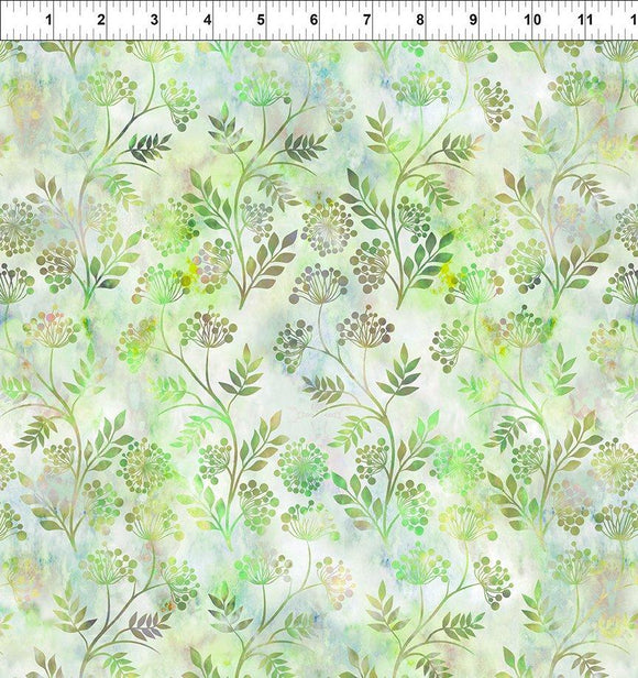 In The Beginning Fabrics FloragraphixV Sprigs Green 6FGE-3