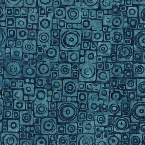 Island Batik Bali Mystery Square Circle - Harbor Blue 522002521