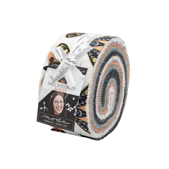 Moda Fabrics Dwell in Possibility Jelly Roll  40 Piece Assorted 2.5