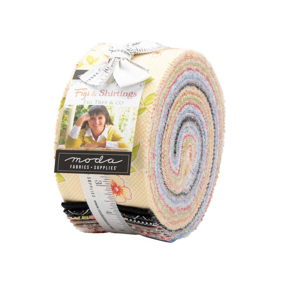 Moda Fabrics Figs Shirtings Jelly Roll 40 Piece Assorted  2.5