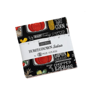 "Moda Fabrics Homegrown Salsa 5"" Squares Charm Pack 42 Pieces 19970PP"