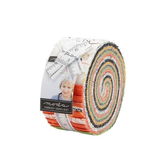Moda Fabrics Quotations Jelly Roll 40 Piece Assorted  2.5