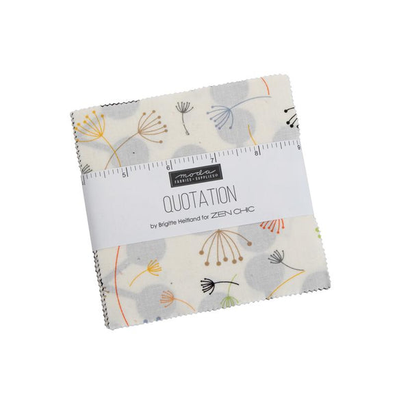 Moda Fabrics Quotations Charm Pack 42 Piece Assorted 5