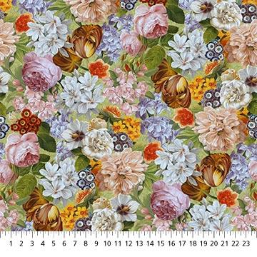 Northcott Fabrics Covent Garden Packed Floral 23809