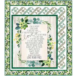 "QT Fabrics Love Never Fails Quilt Kit 52"" x 58"" PT1828"