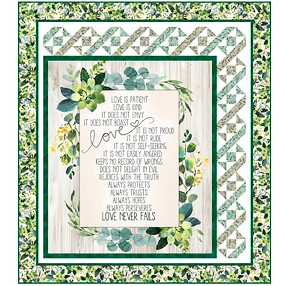 QT Fabrics Love Never Fails Quilt Kit 52