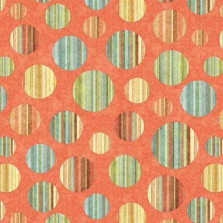 QT Fabrics Toyland Circles Orange  27780-O