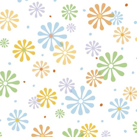 QT Fabrics Whale Of A Time Flower Power White 28100-Z