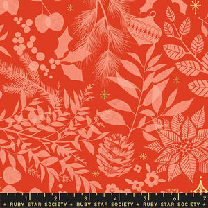 Ruby Star Society Candlelight Prints Poinsettia RS5034 14M