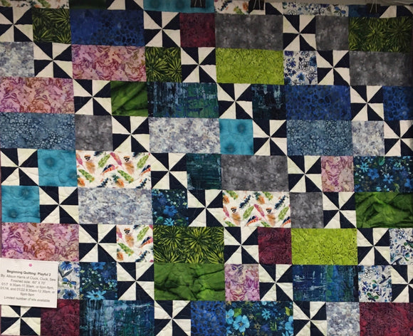 Playful 2 Quilt Kit- pattern by Cluck Cluck Sew