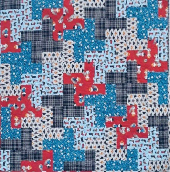 A Little Heat Wave Quilt Kit-  pattern design by Orange Dot Quilts