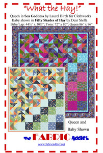 What the Hay Quilt Pattern from Fabric Addict