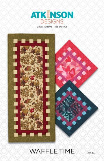Waffle Time Table Runner Quilt Pattern by Atkinson Designs