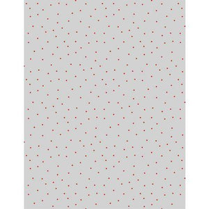 Wilmington Prints Essentials Pindots Gray/Red 1817-39131-913