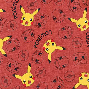 Robert Kaufman Fabrics Pokemon Red AOQ-74444-3
