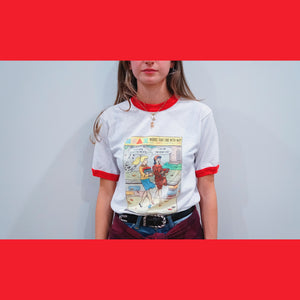 """Time Doesn't Exist"" Ringer Tee"