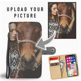 CUSTOM DESIGN YOUR HORSE PHONE WALLET CASE