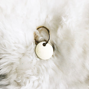 mini personalized brass tag