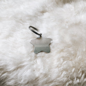 personalized silver star tag