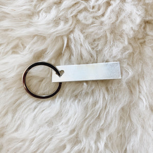 personalized silver bar tag