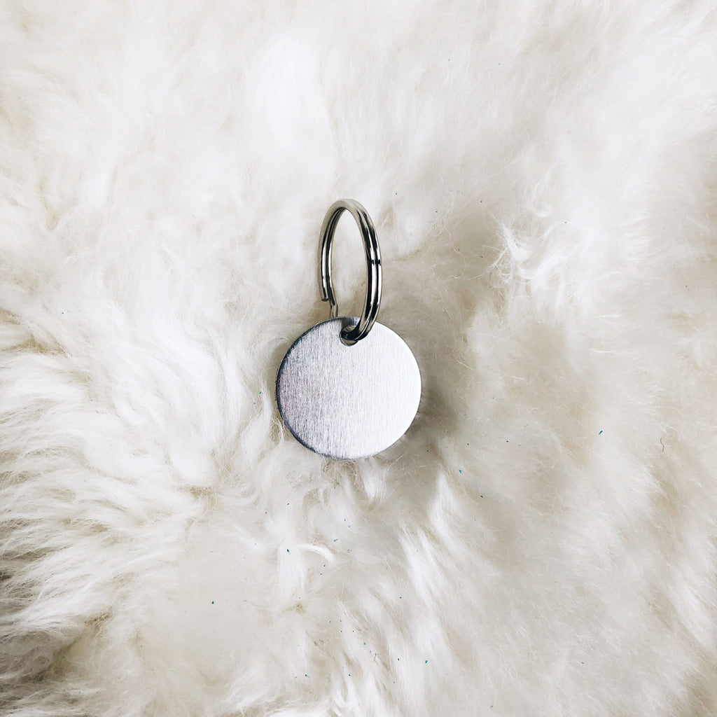 mini personalized silver tag