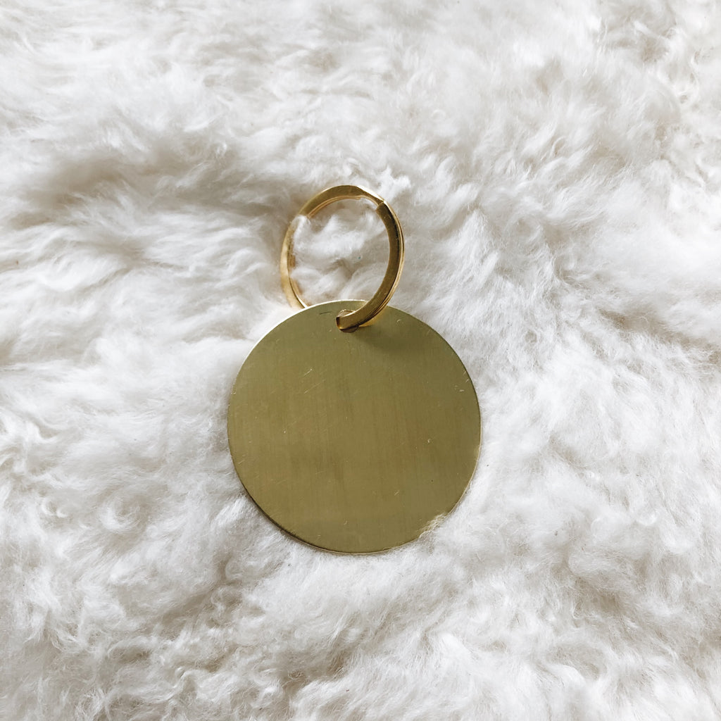 large personalized brass tag