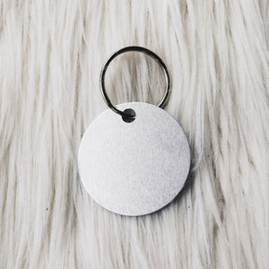 personalized silver tag