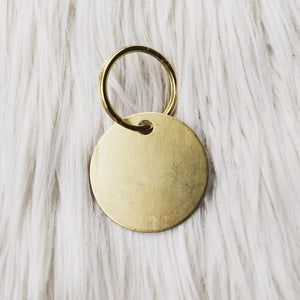 personalized brass tag