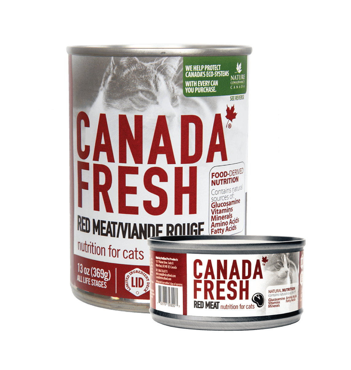Canada Fresh Red Meat for cat (13 oz and 5.5 oz)