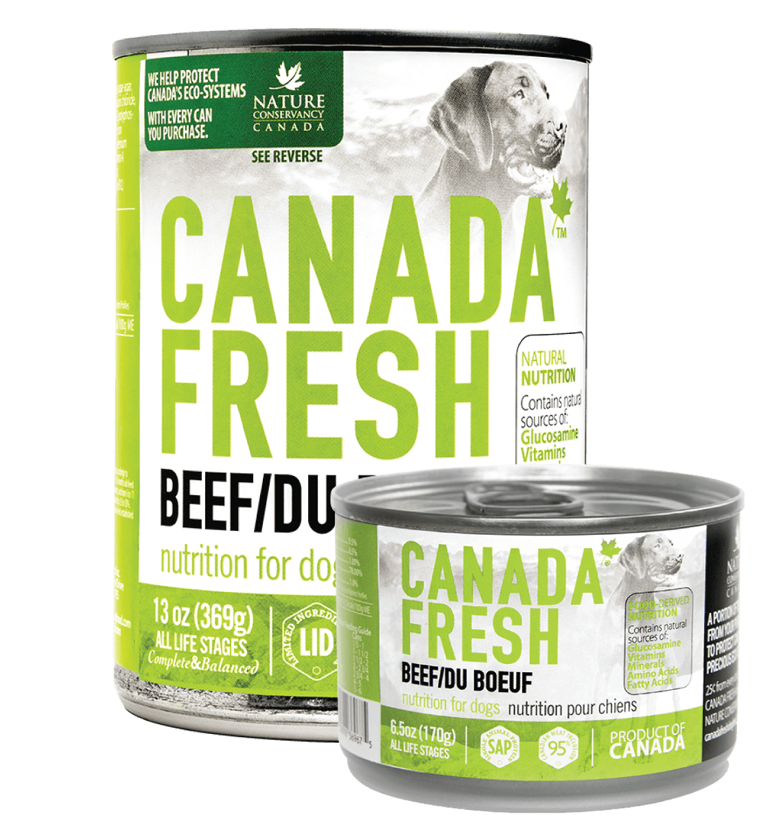 Canada Fresh Beef for dog (13 oz and 6.5 oz)