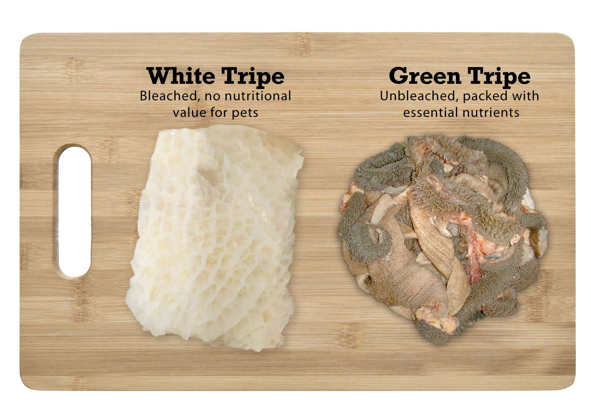 Comparison between White Tripe and Green Tripe