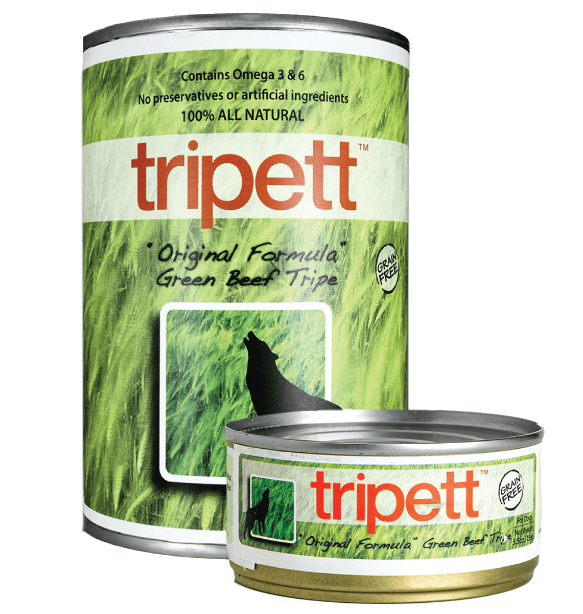Tripett Green Beef Formula (12.8 oz and 5.5oz)
