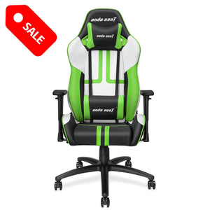 Anda Seat Viper Series Leather Gaming Chair,Large Size Recliner Chair with Lumbar Support Pillow Gaming Chair Anda Seat Green 713194580042